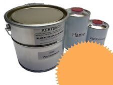1,5 Set Litre 2K Revêtement de sol RAL 1017 Jaune Brillant Peinture Atelier neu