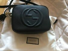 Authentic Gucci Soho Leather Disco Crossbody Bag