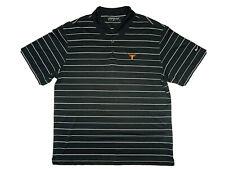 New listing Nike Golf Dri-Fit NCAA Texas Longhorns Men's Black Striped Polo Shirt; Size XL