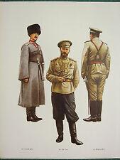 VINTAGE WW1 WWI PRINT RUSSIA MAJESTY'S ESCORT TSAR NICHOLAS II FIELD SERVICE