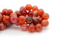 Fire Agate Smooth Round Ball Sphere Natural Gemstone Loose Beads - 10mm