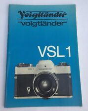 Original Voiglander VSL1 Camera Instruction Book Genuine