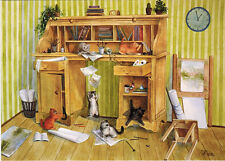 Playful Kittens Just Do Not Stop! Modern Russian postcard
