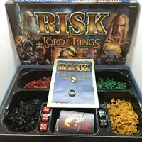 RISK LORD Of The Rings Trilogy Edition  W GOLD RING BOX COMPLETE
