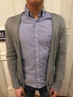 H&M Cardigan Pullover Strickjacke Strick Jacke Gr. S grau 100% Baumwolle wie NEU