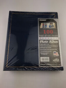Pioneer Fast Stick Pages Photo Album Binder 100 pages (50 sheets) Made in USA