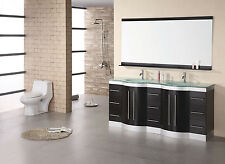 "DESIGN ELEMENT 72"" JADE DEC023-GTP MODERN DOUBLE VANITY BATHROOM CABINET SET"