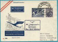 Austria De 1995 Carta por Correo Aéreo Transatlantikflug Dependiendo New York