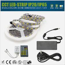 LED Dual Color CCT CT Temperatur Streifen WW CW Netzteil Controller IP20 o. IP65