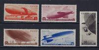 1934 Russia Scott C53-C57 Airships/Dirigibles/Zeppelins MH--fresh