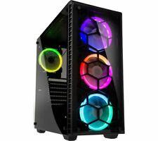 KOLINK OBSERVATORY RGB MID-TOWER E-ATX PC CASE TEMPERED GLASS BLACK NEW