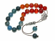 0307 - Prayer Worry Beads Loose String Greek Komboloi 10mm Mixed Agate Gemstone