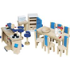 Goki Puppenhausmöbel für die Küche Puppenhausküche Möbel Puppenhaus Puppenküche