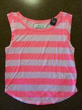 NEW Abercrombie & Fitch Women's Neon Striped Tank T Shirt Size XS