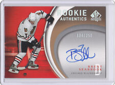Brent Seabrook 2005-06 SP Authentic Signed Rookie Card #'d 134/250 Auto