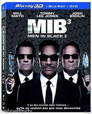 MEN IN BLACK 3  Blu-ray +Blu-ray  3D Active  + DVD -  NEUF