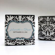 100 Love Bird Damask Printed Favor Boxes Wedding Favors