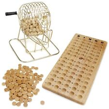 Wooden Bingo Game Family Game Night  Set Vintage Look All Natural Wood
