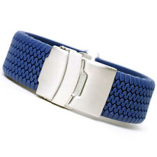 18mm High Quality Blue Silicone Rubber Sport Diver Watch Band Strap rs1805