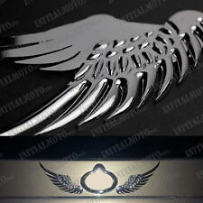 SUV Car Sedan Rear Tail Trunk Chrome Angel Wings Metal Logo Emblem Decal Sticker