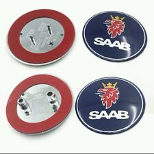 2x Saab Bonnet Front Bonnet & Rear Boot Badge Emblem 93 9-3 95 9-5 2003-2010 UK!