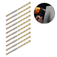 10Pcs Alloy Drill Bits Triangle for Tile Ceramic Concrete Marble Rotary Tool 6mm