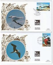 NIUE 1998 COASTAL BIRDS 2 x RSPB OFFICIAL BENHAM SILK FIRST DAY COVERS