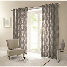 Woodland Ready Made Eyelet Curtains Charcoal 46x72