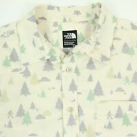The North Face Mountain Big Foot All Over Print Shirt Mens SMALL Pale Yellow