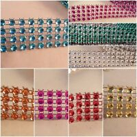 0.8inch wide- 1 metre sparkle diamante effect mesh ribbon crafts cake decor trim