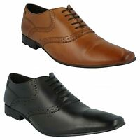 HARRY MTO MENS BASE LONDON LEATHER LACE UP FORMAL BROGUE SHOES