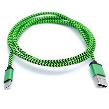 Green Braided USB C 3.1 Sync Charging Cable For Lenovo Z2 Plus Lenovo ZUK Z1 ZUK