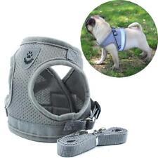 Dog Harness Pet Cats Leash Adjustable Vest Collar Pull Nylon Set Control Walking
