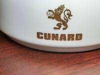 "Royal Doulton England Bone Fine China Ashtray Gold Lion Emblem #4 Cunard 4"""