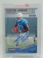 2018 Panini Playoff Kerryon Johnson Rookie Auto Lions Red Parallel SP