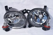 Glass Fog Driving Light Lamps w/2 Light Bulbs One Pair for 2009 A4 A6 Q5 S6