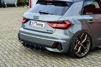 Heckansatz Heckeinsatz Diffusor Heckeinsatz aus ABS für Audi A1 GB S-Line