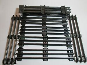 """LIONEL O GAUGE STRAIGHT 10"""" TRACK SECTIONS. No Pins  LOT of 10. - Used"""