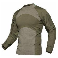 TACVASEN Mens Army Military Shirts Tactical Combat Shirt Zipper Pockets T-Shirt