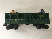 Antique Lionel 3370 Wells Fargo Fast Express Outlaw & Sheriff GunFight Metal Car
