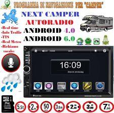 PROGRAMMA CAMPER AUTORADIO ANDROID 16 GB MAPPE EUROPA COMPLETA 02/18 Velox 04/18