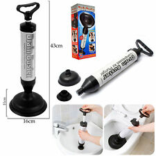 Multi drain buster évier toilette bain piston sabots remover sucker 2 head uk