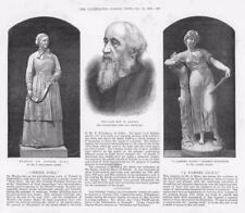 1886 Antique Print - STATUES SISTER DORA PASSING CLOUD REVEREND BARNES (119A)