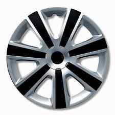 Tapacubos delantero derecho plata Negro 13 Pulgadas Cubierta de la rueda