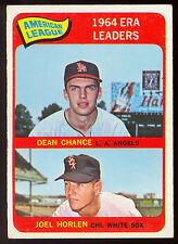 1965 TOPPS OPC O PEE CHEE #7 DEAN CHANCE JOEL HORLEN EX-NM 1964 ERA LEADERS Card