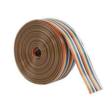 1-5M 1.27mm Spacing Pitch 20P Flat Color Rainbow Ribbon Cable Wire Dupont Line