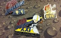 3 Super Bowl 21 lapel pins pre-owned GTE and Sport Magazine MVP