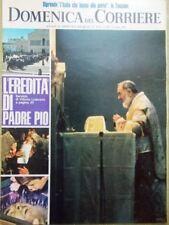 La Domenica del Corriere 8 Ottobre 1968 Morte Padre Pio Palio Siena Alieni Ufo