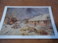 Postcard vintage Samuel Bough Burns Cottage Alloway Glasgow Art Gallery