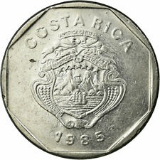 [#720852] Coin, Costa Rica, 10 Colones, 1985, EF(40-45), Stainless Steel